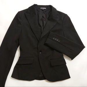 Express Black Single Button Womens Blazer sz 0 2
